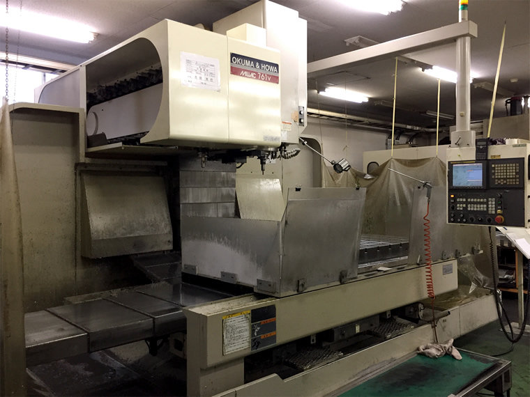 縦型マシニングセンターの機械